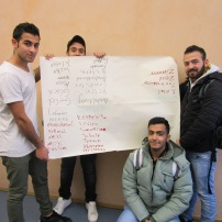 Berlin: Schreibworkshop mit Schülern einer Willkommensklasse der Max Taut-Schule